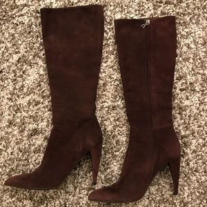 PRADA brown suede boots 7.5